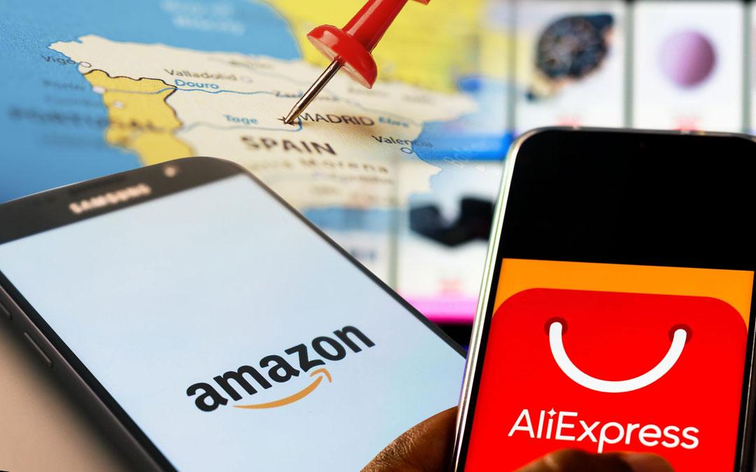 Amazon y Aliexpress Lideran la venta online en españa